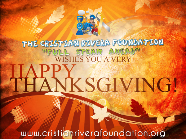 Happy Thanksgiving from the Cristian Rivera Foundation