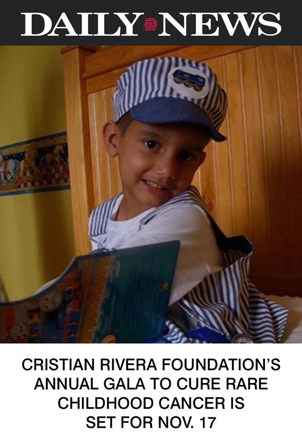 Cristian Rivera Foundation's annual gala to cure rare childhood cancer is set for Nov. 17