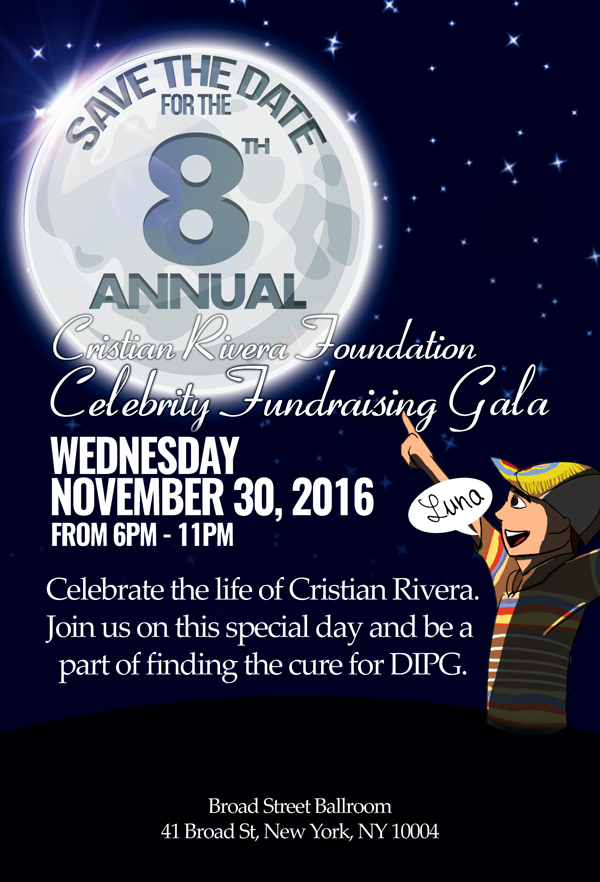 Save the Date for the 8th Annual Cristian Rivera Foundation Celebrity Fundraising Gala