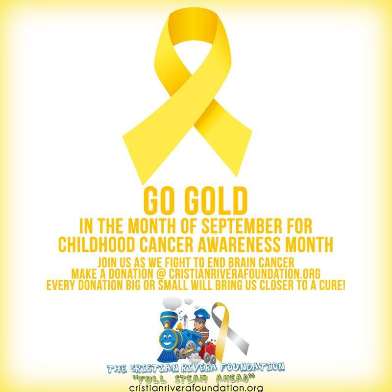 Go Gold in the Month Of September for Childhood Cancer Awareness Month